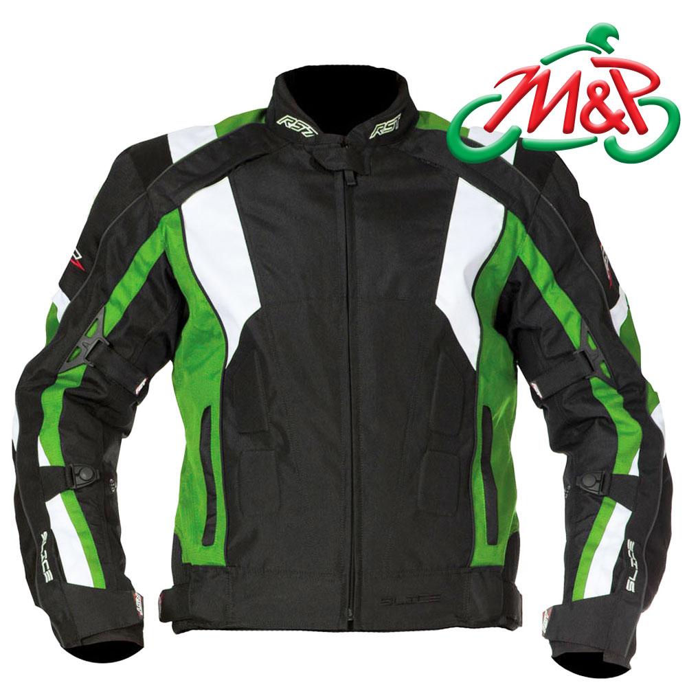 Mens RST Slice Sport Waterproof Textile Motorcycle Jacket Green UK ...