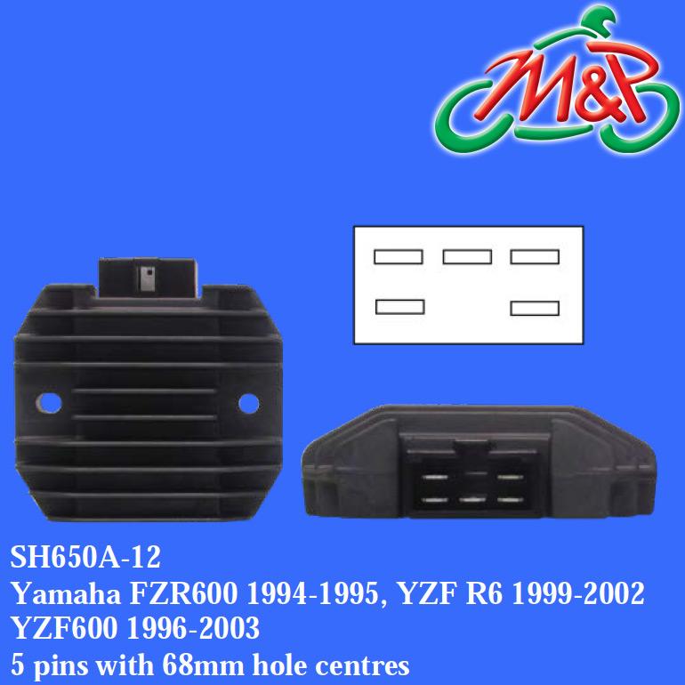 Yamaha YZF R1 1000cc 5JJ1 2000 Voltage Regulator Rectifier Replacement Unit