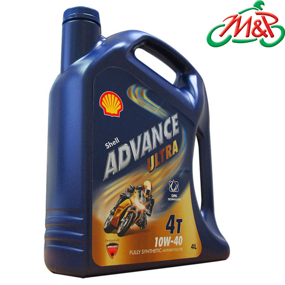 Shell ultra advance 10w 40 4l fully synthetic motorcycle for Shell synthetic motor oil