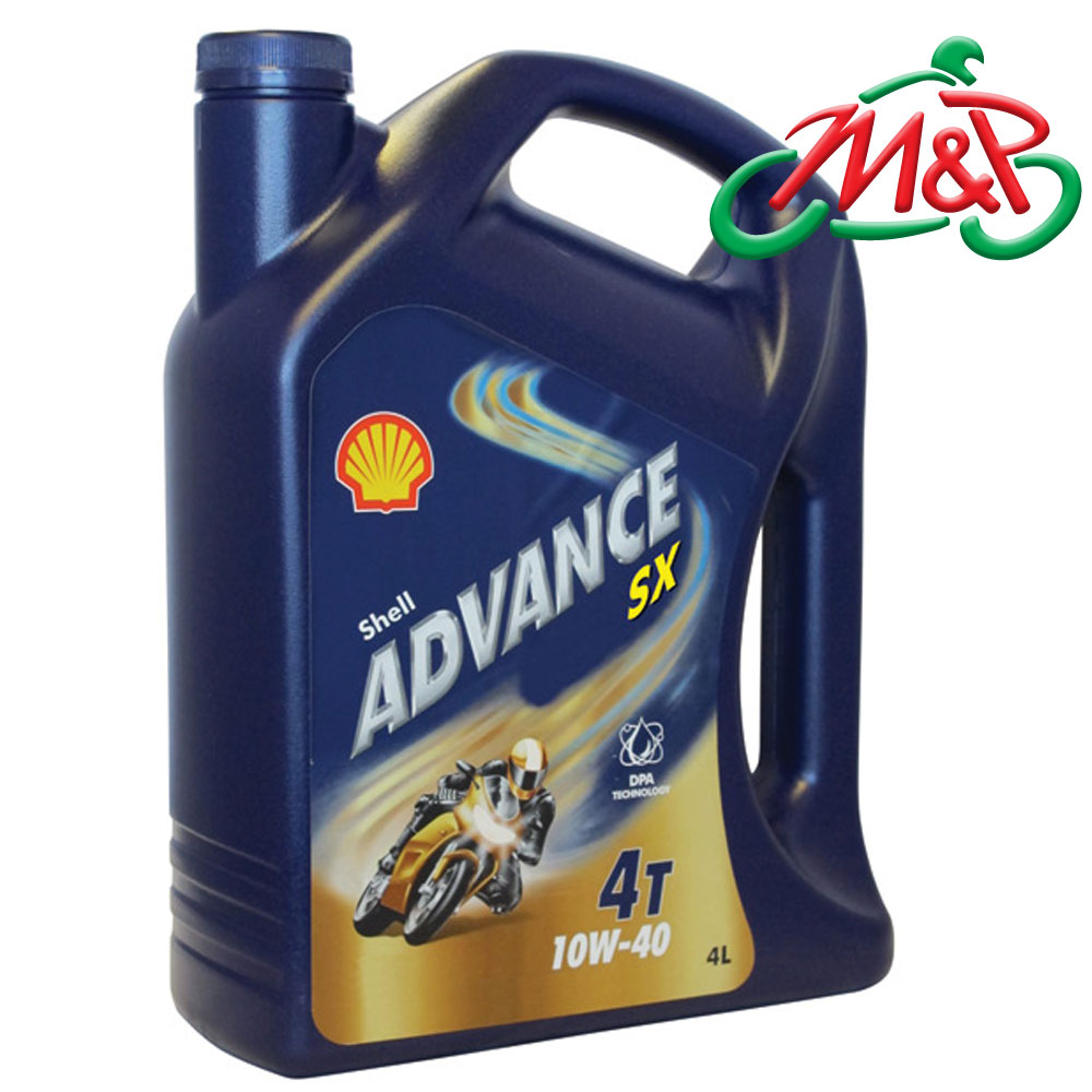 Shell Advance Sx 4t 10w40 Motorcycle Mineral Oil 4 Litre New
