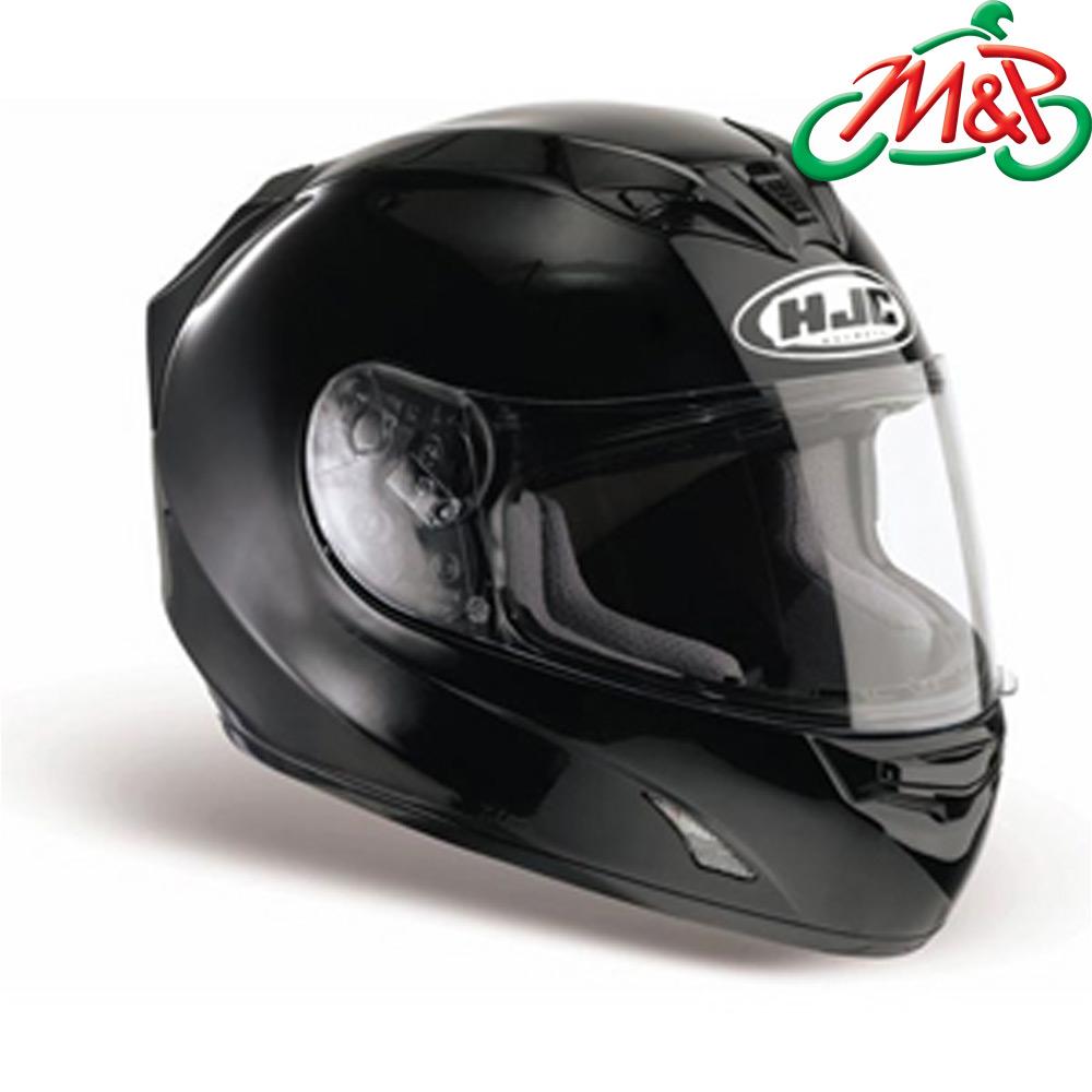 HJC FG-15 Plain Black Small Full Face Motorcycle Crash Helmet 56cm ...