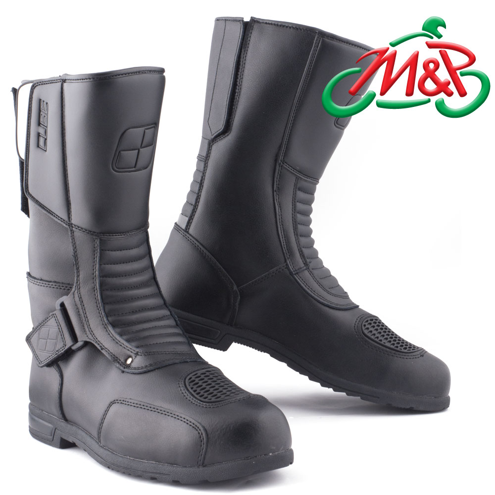 pair cube touring ii motorcycle leather waterproof boots